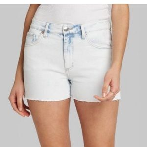 Women's High-Rise Mom Jean Shorts - Wild Fable
